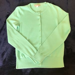 Banana Republic mint green button-down cardigan